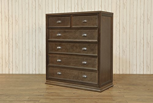 Franklin & Ben Mason 5-Drawer Tall Dresser, Rustic Brown