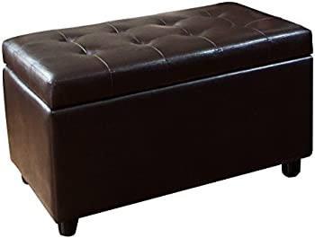 Simpli Home Faux Leather Rectangular Bench