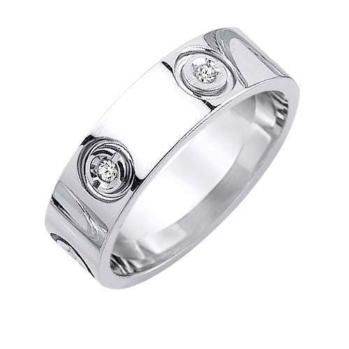 0.12ct Sterling Silver Executive Round Cut Diamonds Eternity Wedding Band Size - 10