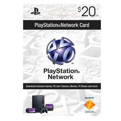 PSN 20 dollar live card Picture