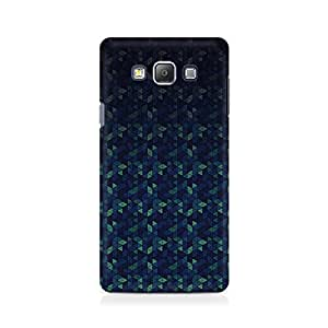 Ebby Triangles in Blue Premium Printed Case For Samsung On 5