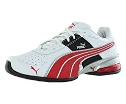 PUMA Cell Surin NM JR Sneaker (Little Kid/Big Kid) , White/High Risk Red/PUMA Silver, 3.5 M US Big Kid