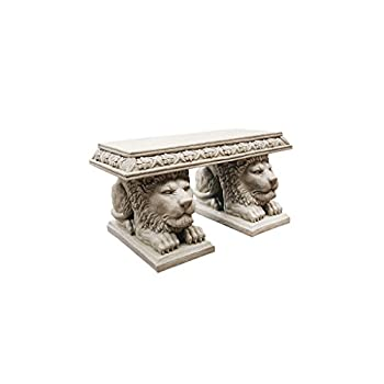 Design Toscano Grand Lion of St. Johns Square Sculptural Bench
