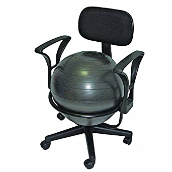 "Amazon.com: CanDo 30-1791 Ball Chair, 22"" with Back/Arms ..."