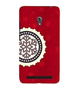 ARTISTIC SYMBOL IN A RED BACKGROUND 3D Hard Polycarbonate Designer Back Case Cover for Asus Zenfone 5 A501CG :: Asus Zenfone 5 A500CG