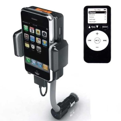 CAR CHARGER MOUNT FM TRANSMITTER FOR APPLE iPHONE 4