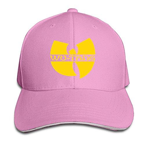k-fly2-unisex-adjustable-wu-tang-logo-baseball-caps-hat-one-size-pink