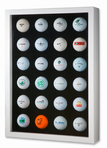 Golfball-Vitrine für 24 Golfbälle, Weiß