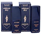 Vetiver Dry By Carven For Men. Eau De Toilette Spray Pack Of 2 X 25 Ml (Total 50 Ml).