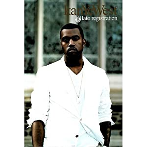 Kanye West (Late Registration, White Suit) Music Poster Print