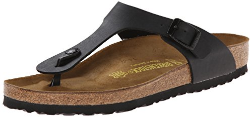 Birkenstock Gizeh Birko-Flor Thong,Black,39 M EU (Birkenstock Sandals Women 39 compare prices)