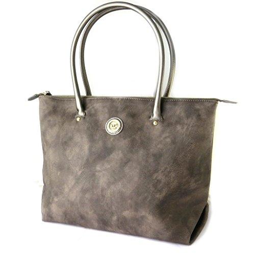 Bag designer 'Ted Lapidus'marrone vintage (speciale computer)- 45x29.5x17.5 cm.