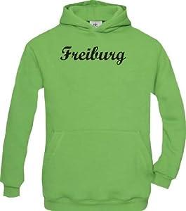 Shirtstown Kinder Kapuzenpullover City Stadt Shirt Freiburg Deine Stadt kult, Größe 98-164