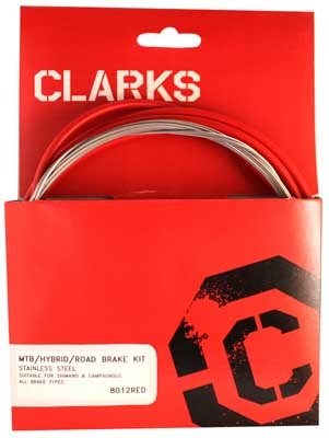 Cable Brake Clarks Kit Front+rear Stainless Steel Sport Road/mountain Red motorcycle front and rear brake pads for honda vt250fl spada castel 1988 1990