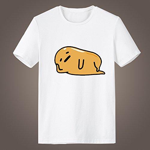 Generic Gudetama Parody & Spoof Funny Short Sleeve High Quality O-Neck T Shirt for Men (White, XXL)