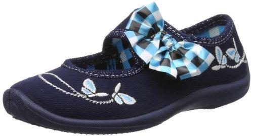 Fischer Girls Lena Ballerina Schleifen Schmetterling Slippers Blue Blau (marine 521) Size: 34