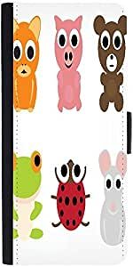 Snoogg Animal Characters Set Designer Protective Phone Flip Case Cover For Apple Iphone 6