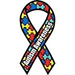 AUTISM AWARENESS Large 4″ X 8″ Ribbon Puzzle Car Magnet NEW Donations to Autism