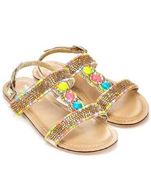 Monsoon Filles Sandales ornées de perles vives Taille Chaussures 25 Multicolore