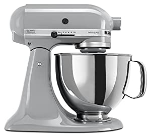 KitchenAid KSM150PSMC Artisan 5-Quart Stand Mixer, Metallic Chrome