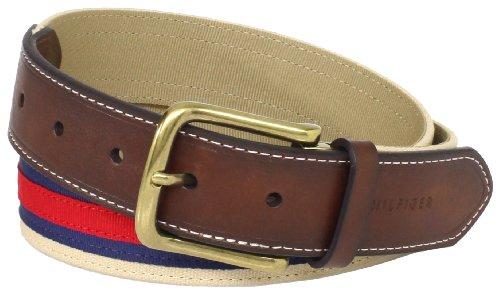 Tommy-Hilfiger-Mens-Layered-Ribbon-Leather-Tab-Belt