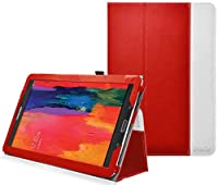 Ionic Stand Leather Case For Samsung Galaxy Tab Pro 8.4 TabPro 8.4 (Red) from CrazyOnDigital