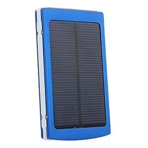 Universal DC 5V 10000mAh externer Solar Akku, Power-Bank für elektronische Produkte(z.B.: iPhone, Ipad, Ipod, HTC, Samsung Galaxy usw.) (Farbe: Blau)