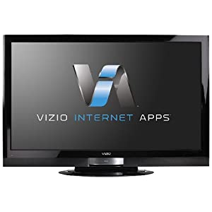 "[Front View: VIZIO's XVT473SV 47"" TruLEDTM LCD HDTV with VIZIO Internet Apps]"