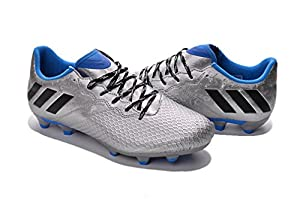 Men's Messi 16.3 FG Grey Low Football Shoes Soccer Boots For Mens
