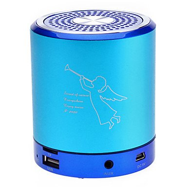 Magic.Portable Column Mini Speaker Fit For Mp3/Mp4/Po/Cellphone (4 Colors)T2020 , Blue
