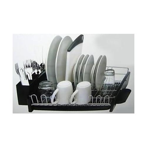 Kitchenaid 3 Piece Dish Drying Rack Black Dish Rack And Drainboard Set