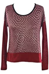 G2 Chic Women's Metallic Abstract Printed Long Sleeve Top