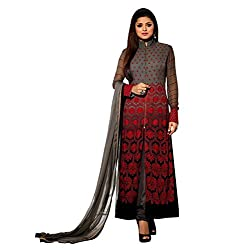 Krishna Present All New wedding Wear Embroidered Grey Color Dress Meterial.