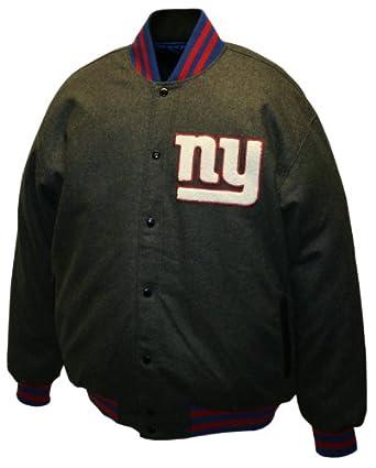 NFL Mens New York Giants Charcoal Dual Edge Reversible Wool Jacket by MTC Marketing, Inc