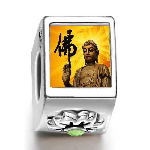 Soufeel Religion Holy Buddha August birthstone Photo Flower European Charm Bead Bracelets Fit Pandora Chamilia Biagi beads Charms Bracelet