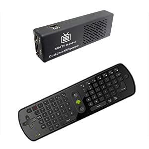 Mini PC Dual Core Android 4.1 TV Dongle MK808 Bluetooth 8GB HDMI Rk3066 + 2.4G Fly Mouse RC11