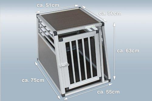 Hundebox-Alubox-Hundetransportbox-Autobox-Einlegematte-Inbus-Verschraubung-Gre-S