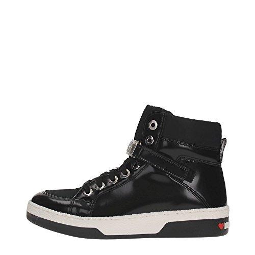 Love Moschino Logo Hi Top Donna Sneaker Nero