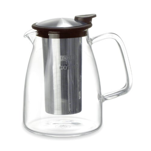 FORLIFE Cafe Style Glass Infusion Coffee Maker, 60-Ounce/1765ml, Black Graphite Best Coffee ...