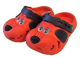 Fresko Kids Puppy Dog Slip On Water Shoe Clogs (7, Red)