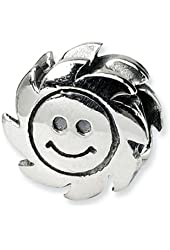 Reflections Sterling Silver Smiling Sun Bead / Charm