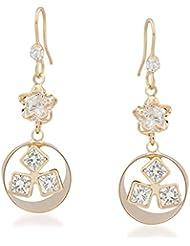 VK Jewels Tiny Stars Gold Plated Alloy Drop Earring Set For Women & Girls -ERZ1358G [VKERZ1358G]