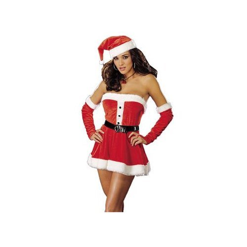 Women Medium (6-10) - Sexy Santas Sweetie Costume Lingerie from Dream Girl Lingerie