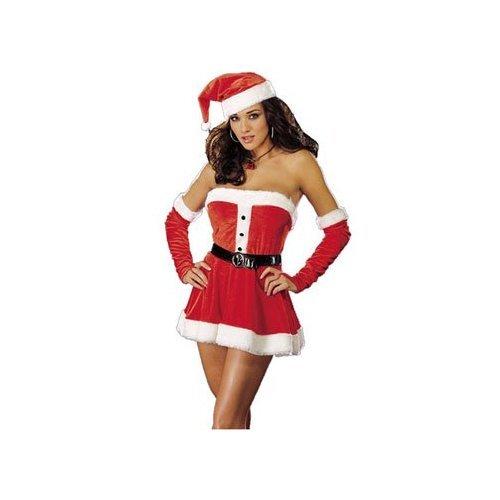Women Medium (6-10) - Sexy Santas Sweetie Costume Lingerie from Dream Girl Lingerie