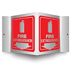 Pre-Drilled Mounting Holes LegendFIRE Extinguisher ACCUFORM SIGNS PSP618 Projection Sign 3D Arrow 0.10-Inch Thick High-Impact Plastic with Graphic 6-Inch x 5-Inch Panel White on Red