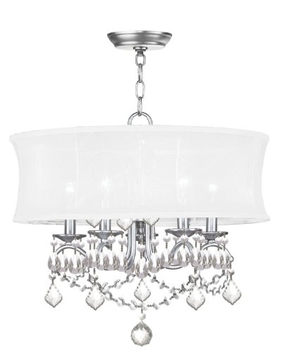 B0040C32DQ Livex Lighting 6305-91 Newcastle Brushed Nickel Chandelier