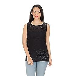 Rute Black Laced T-Shirt