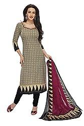RK Fashion Womens Cotton Un-Stitched Salwar Suit Dupatta Material ( SANDHYA-PAYAL-2026-Grey-Free Size )