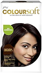 Godrej Coloursoft Crme Hair Colour, Natural Brown, 80ml + 24g