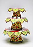 Appletree Design Winterland Collection Set of Three Magnetic Cake Stands, 14-1/2-Inch